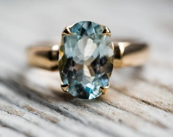Aquamarine 14k Gold Ring 6 - Stunning Aquamarine Ring 14k Gold - Natural Aquamarine and 14k Gold - Aquamarine Ring - Beautiful Blue Aqua