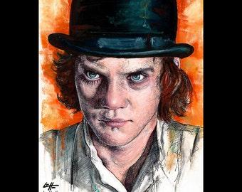 """Drucken Sie 11 x 14""""- Alex - eine Clockwork Orange Malcolm McDowell Stanley Kubrick Vintage Gewalt Banden Mord Gesellschaft britischen Punk-Pop-Art UK"""