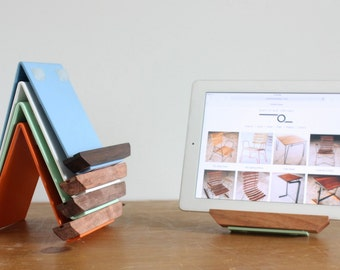 ipad stand, tablet stand, recipe holder, metal ipad stand, dock