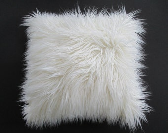 Pillow Cover Faux Fur Curly Mongolian Lamb Zipper