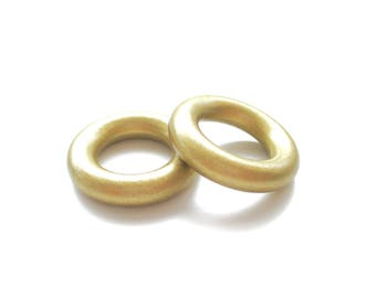 Wooden 35mm gold ring