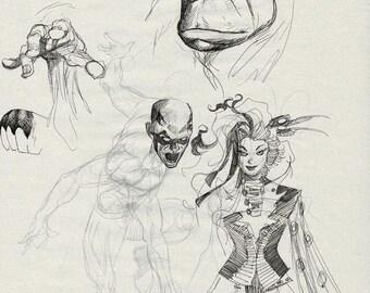 Hulk/Daredevil/etc sketch by Mike McKone