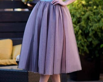 Tulle skirt, adult tutu, different color tulle skirt, adult tulle skirt, midi skirt, custom any length Active