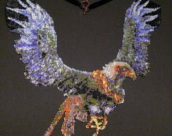 Gryphon Necklace - seed beads and flights of fancy