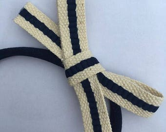 Navy Stripe bow