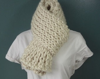 Soft Bulky Knit Scarf Ready to Be Shipped