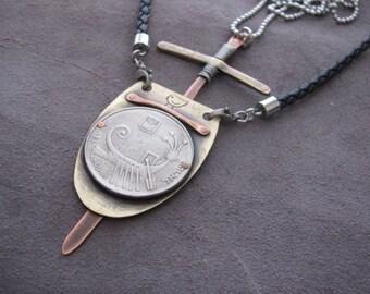 Viking Pendant, Shield Necklace, Viking Shield Necklace, Viking Necklace, Viking Jewelry, Shield Pendant, Shield Pendant Men, Viking Shield