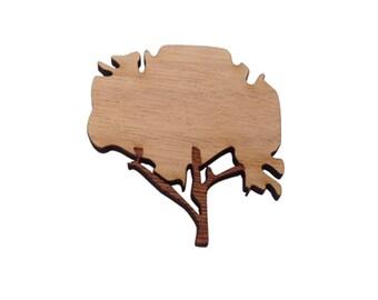 Tree Brooch Melbourne made Original Sterling Silver back