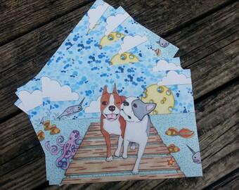 Boston Terriers Beach Day