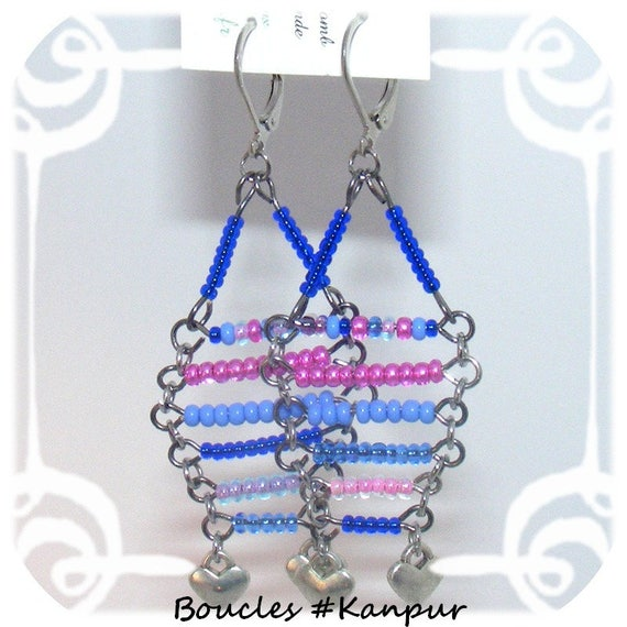 Earrings # # dangle earrings unique # style # # dollydoo # gift unique seed beads peyote