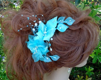 Tiffany Blue Comb, Bridal Hair Comb, Wedding Hair Comb, REX17381