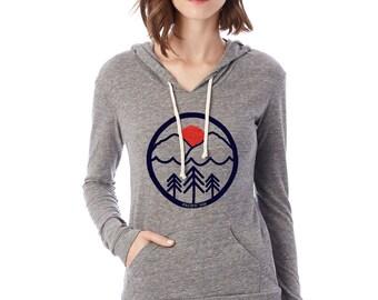 Womens Pacific Northwest lightweight hoodie. Alternative apparel. PAC NW.
