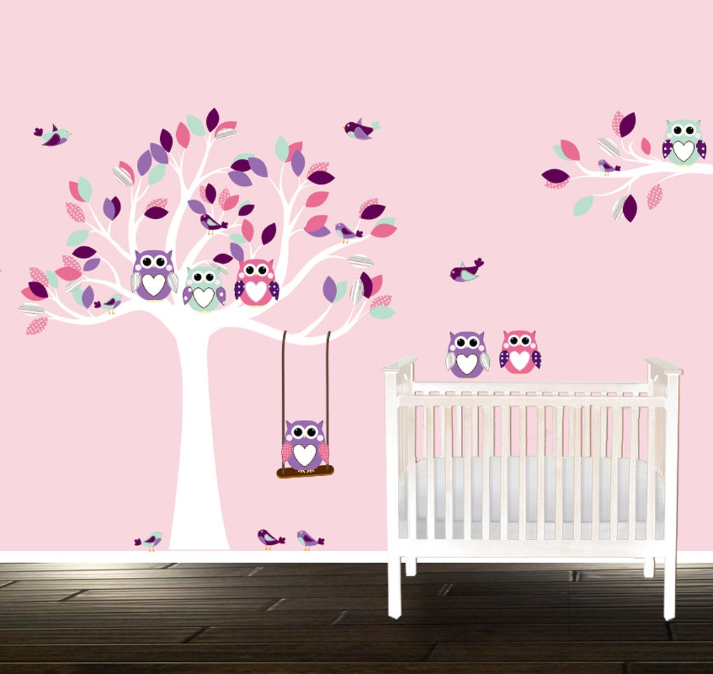 stunning stickers arbre blanc chambre bebe contemporary amazing house design. Black Bedroom Furniture Sets. Home Design Ideas