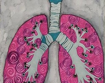 65 Roses Original Art Wall Art Medical Anatomy