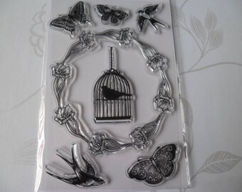 clear transparent stamps patterned bird/Butterfly silicone stamps