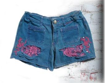 Teen shorts, altered shorts, blue shorts, altered short,  # 26