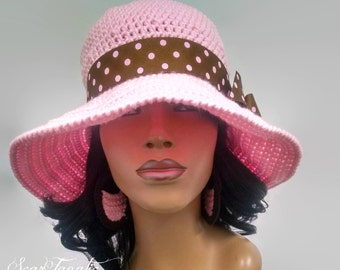 PATTERN ONLY Easy Crochet Sun Hat with Wide Shapeable/Flexible Brim Instant Download Pdf