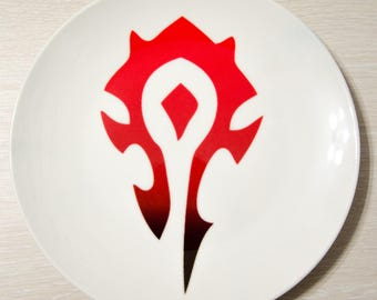 World of Warcraft Horde plate Warcraft plate Decorative plate Horde Gifts WOW Warcraft Gift