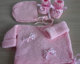 Top hat bonnet booties and shoes 0/3 months baby
