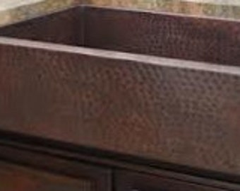 Copper Farmhouse Apron Kitchen Sink, Single Well, Gorgeous Patina!