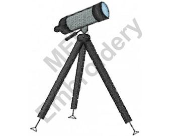Telescope - Machine Embroidery Design, Astronomy, Stargazing