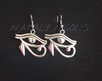 Eye of Ra Silver Earrings