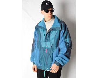 Vintage 90s K2 Turquoise Fleece SKI Jacket Size L