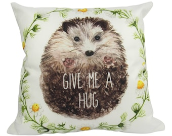 Hedgehog | Give Me a Hug | Pillow Cover | Porcupine | Throw Pillow | Hedgehog Pillow | Hedgehogs | Romantic Gifts for Couples | Gift