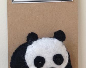 FELT BROOCH 'Panda'