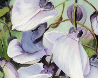 Wisteria - Fine Art Print - Giclee - of Original Oil Painting by L Donaghey - 10 x 10 - Original Giclee - Original Print