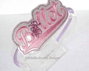 Headband Prima Ballerina Ballet dance recital dancer  U shape har headband girls kids tween hair accessory pink ballet shoes dancer gift
