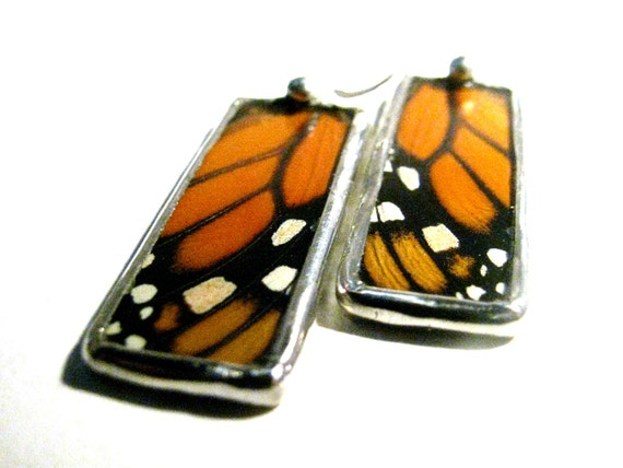 Real Monarch Butterfly Wing Jewelry