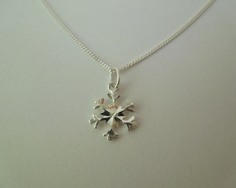 Sterling Silver 925 Snowflake Necklace Christmas Xmas Winter Themed