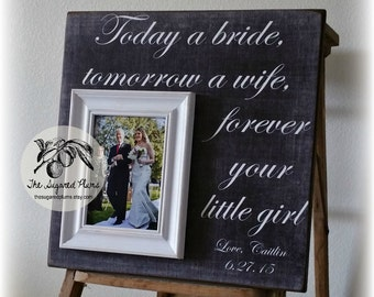 Gifts for Fathers on Wedding Day, Father of the Bride Gift, Personalized Picture Frame, Today A Bride, 16x16 The Sugared Plums Frames
