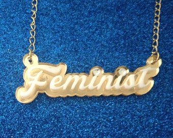 The sweetest Femme feminist necklace around!