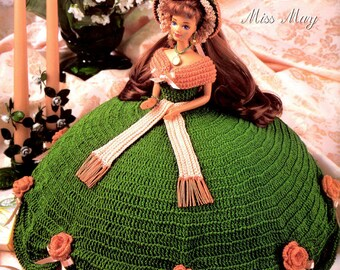 """Crochet Pattern Leaflet -  Miss May - Gems Of The South Collection - Annie's Attic - Fits 11.5"""" Fashion Doll"""