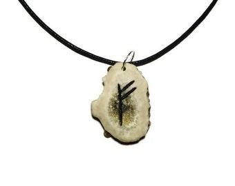 Fehu Bone Rune Necklace