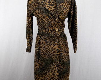 Leslie Fay Animal Print Dress size 6
