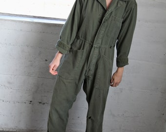 Green Cotton Coveralls