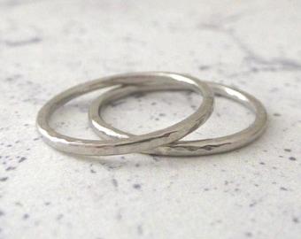Palladium band ring - 1.5mm - Hammered or Smooth - Elegant palladium wedding ring