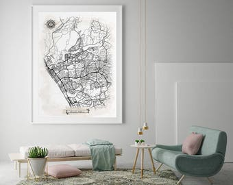 Oceanside ca art map Etsy