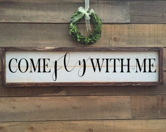Come fly with me, framed shiplap, home decor