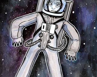 Astrogirl A3 Print