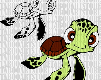 Squirt turtle clipart, Finding Dory  svg , Squirt turtle svg, Disney clipart, Squirt turtle eps, turtle eps, Squirt turtle silhouette files