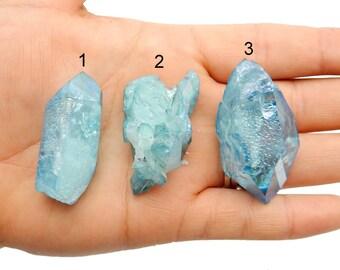 Beautiful Aqua Aura Crystal Point - You Choose (RK75-01-09)