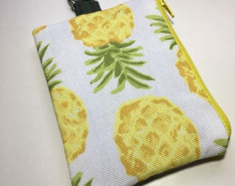 Small carabiner bag, coin purse, change purse, wallet
