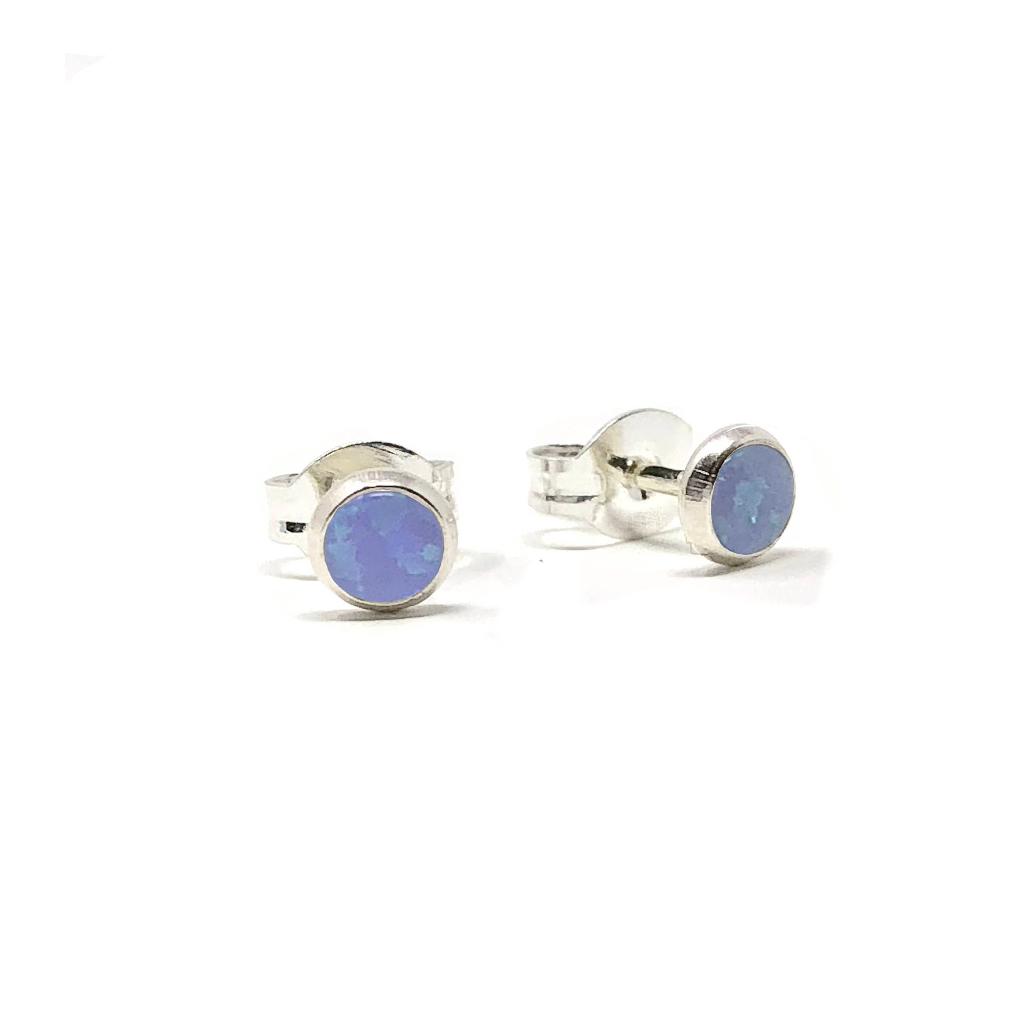 blue enamel connell o silver horizon earrings opal with cms enamelled product stud sea eily enamelling pistachio