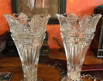 Vintage Large Cut Glass Vase