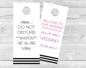 Marble Wedding Door Hanger Template Please Do Not Disturb