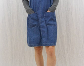Vintage Oversized Denim Jumper, Size Small-Medium, Grunge, 90's Clothing, Pockets, My So Called Life, Hipster, Indie Clothing